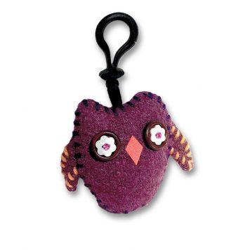 felt owl key ring