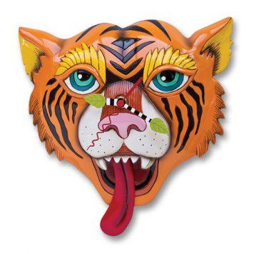 colourful tiger pendulum clock