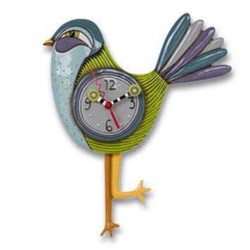blue bird pendulum clock